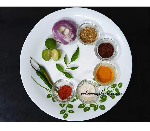 Poha-ingredients