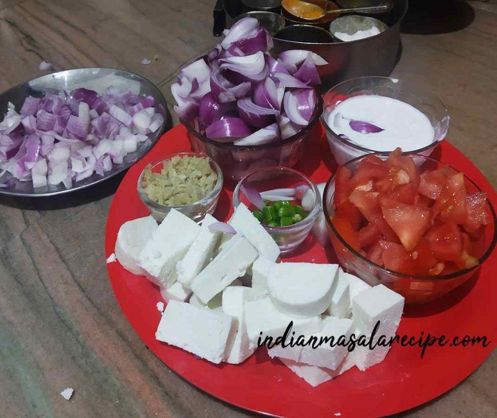 ingredients-for-shahi-paneer-recipe