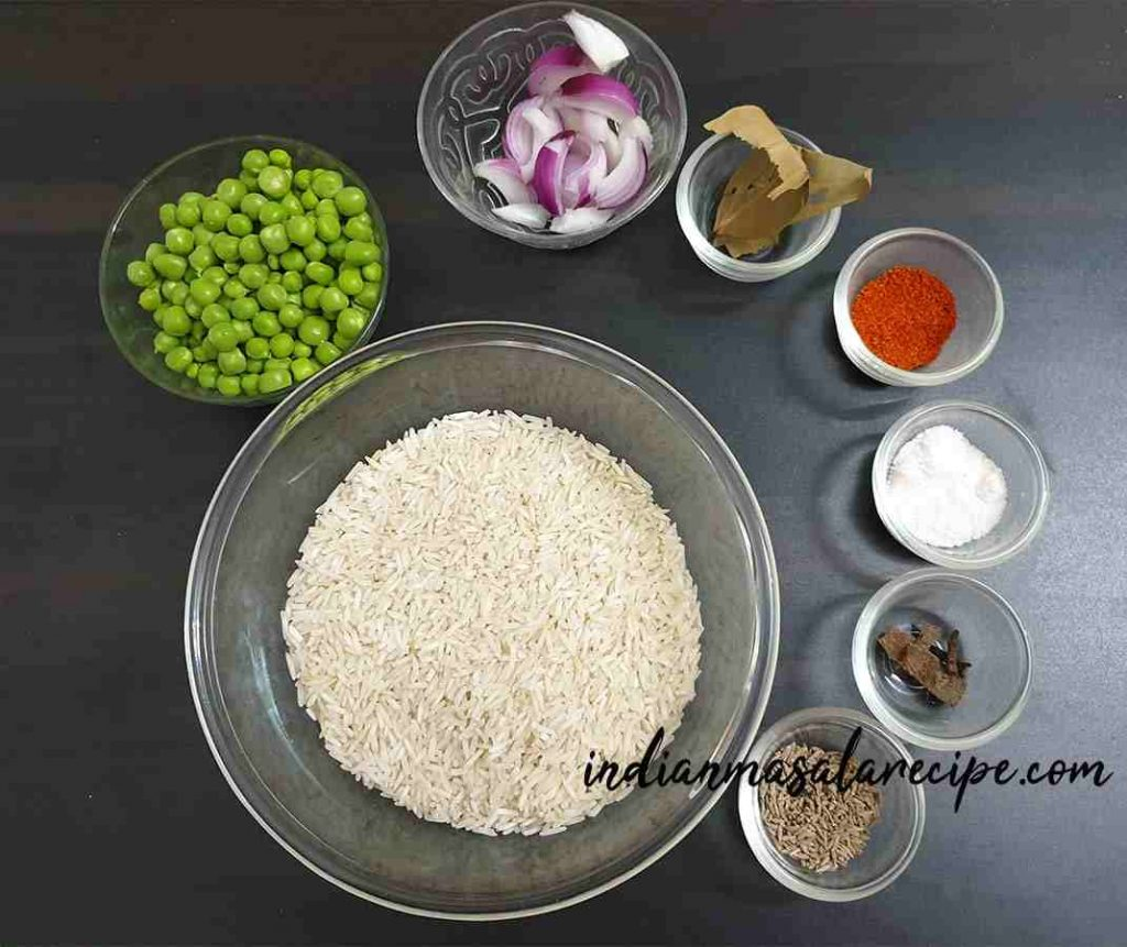 ingredients-of-matar-pulao