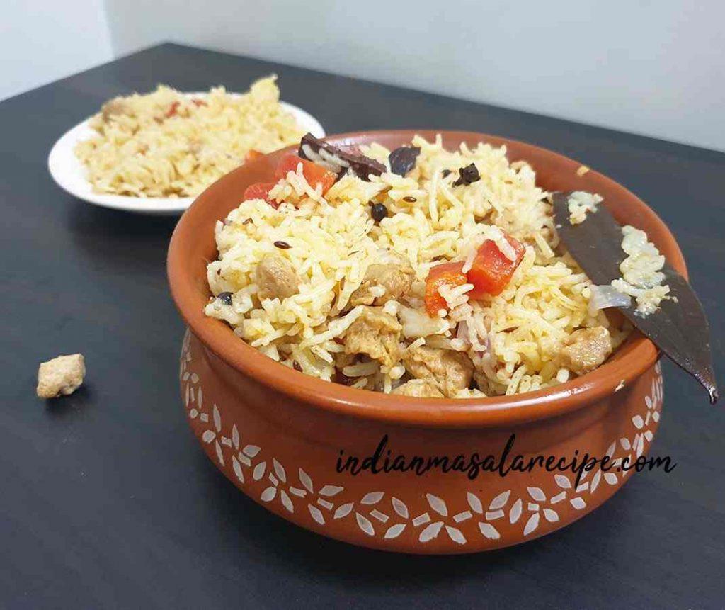 soya-chunks-pulav-recipe