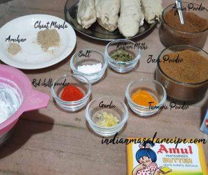 ingredients-for-soya-chaap-recipe